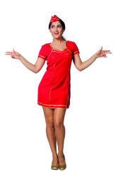 Stewardess Jurk voor Dames - rood