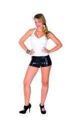 Dames Hotpants Metallic - zwart