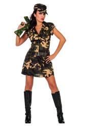 Sexy Militair Kostuum voor Dames - camouflage
