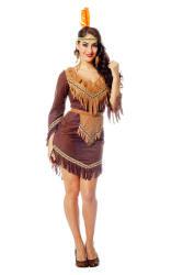 Indianen Kostuum voor Dames - Donkerbruin