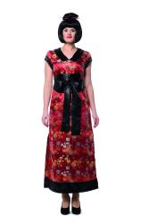 Chinese Damesjurk Lang - bordeaux