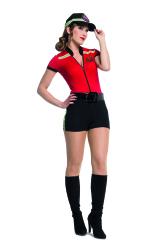 Sexy Brandweer Catsuit voor Dames