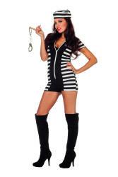 Sexy Boef Catsuit voor Dames - zwart/wit