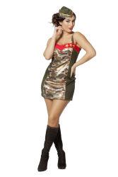 Sexy Army Girl Jurkje voor Dames - legergroen