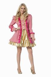 Carnavalsjas Schild Dame - roze/goud