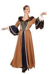 Middeleeuwse Damesjurk Lady Guinevere - bruin