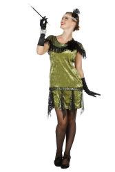 Peaky Blinders Damesjurk Polly - groen