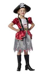 Kinderkostuum Piraat voor Meisjes - bordeaux
