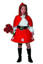 Kinderkostuum Rood Kapje - rood/wit