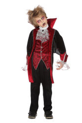 Vampier Kostuum voor Kinderen - zwart/rood