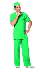Chirurgen Kostuum Setje voor Heren - groen