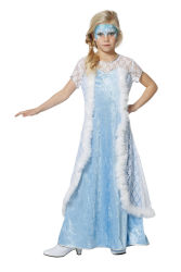 Ijsprinses Jurkje voor Kinderen - lichtblauw