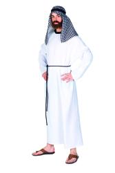Arabier Herenkostuum - wit/zwart