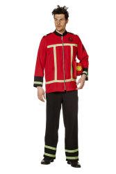 Brandweer Uniform voor Heren - rood/zwart