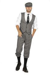 Peaky Blinders Finn Kostuum voor Heren - grijs