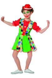 Kinderkostuum Clown voor Meisjes - groen