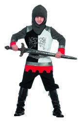 Ridder Kostuum voor kinderen - zilver/zwart/wit