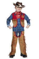 Kinderkostuum Cowboy Hank - bruin/rood