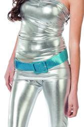Riem met Glitters - turquoise