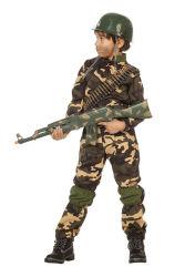 Kinderkostuum Militair in het Leger - camouflage