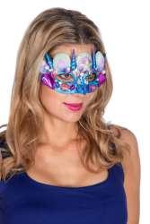 Masker Schelpen - blauw