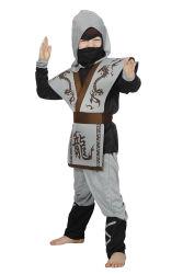 Ninja Kostuum voor kinderen - grijs