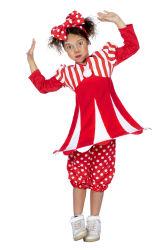 Kinderkostuum Circus Meisje - rood/wit