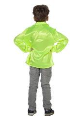 Ruchesblouse Satijn voor Kinderen - neongeel
