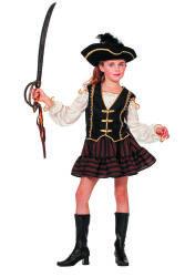 Piraten Kostuum voor Meisjes - bruin