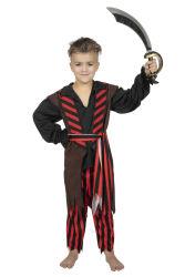 Kinderkostuum Piratenjongen - bruin/rood