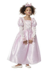 Kinderkostuum Prinsessenjurk met Pailletten - roze