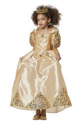Kinderkostuum Jurk Koningin - goud
