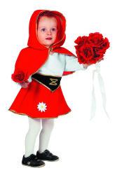 Babykostuum Roodkapje - rood/wit