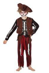 Jongenskostuum Horror Piraat - Skelet