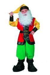 Kabouter Kostuum voor Kinderen - groen/rood/geel