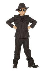 Gangster Kostuum voor Kinderen - zwart