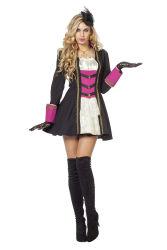 Dameskostuum Garde Markiezin - zwart/roze
