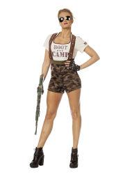 Legerkostuum Boot Camp voor Dames