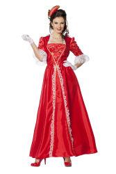 Dameskostuum Markiezin Taft - rood
