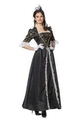 Dameskostuum Markiezin Taft - zwart