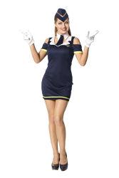 Dameskostuum Sexy stewardess - donkerblauw