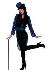 Slipjas met Pailletten voor Dames - blauw