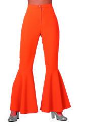 Broek ''Hippie'' Stretch voor Dames - oranje