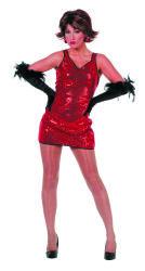 Jurkje Patty met Pailletten - rood