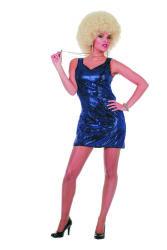 Jurkje Patty met Pailletten - blauw