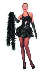 Damesjurk met Pailletten en Satijnen Rokje - zwart