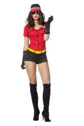 Pitspoes Kostuum voor Dames - rood/zwart