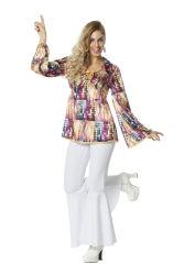 Disco Shirt Lange Mouw voor Dames