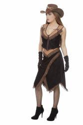 Cowgirl Kostuum voor Dames - zwart