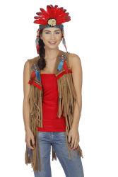 Vest voor Indiaan en Hippie Dames -bruin